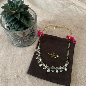 🌸Kate Spade gold tone and clear crystal necklace